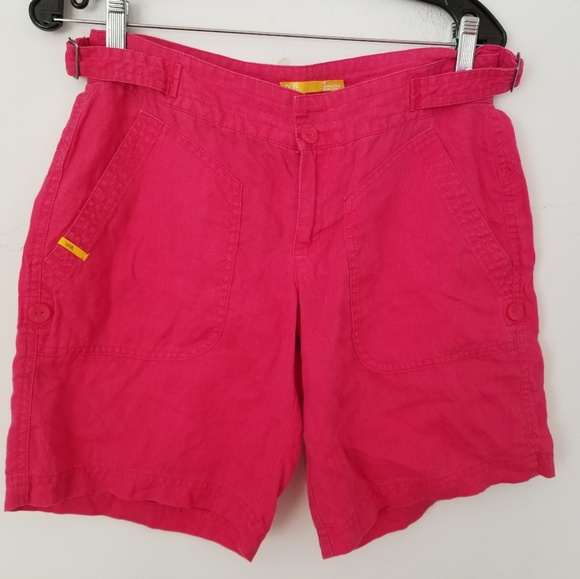 Pants - Lolè Linen Red Shorts,6